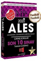 Yargı Yayınları 2020 Ales Vıp Tamamı Çözümlü Son 10 Sınav Çıkmış Sorular
