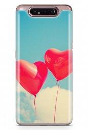 Samsung Galaxy A80 Kılıf Silikon Arka Kapak Koruyucu Balon Rüyala