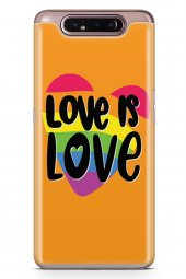 Samsung Galaxy A80 Kılıf Silikon Arka Kapak Koruyucu Love İs Love