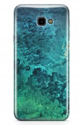 Samsung Galaxy J4 Plus Kılıf Silikon Arka Kapak Koruyucu Mavi Yeş