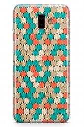 Samsung Galaxy J6 Plus Kılıf Silikon Arka Kapak Koruyucu Renkli P