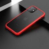 Apple İphone 11 Kılıf Benks Magic Smooth Drop Resistance Mat Silikon Kırmızı
