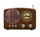 Meier M 161bt Şarjlı Nostaljik Mini Bluetooth Hoparlör Fm Radyo Usb Sd Mp3
