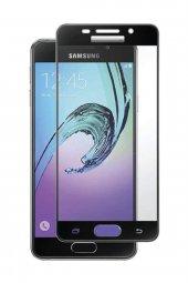 Samsung Galaxy A5 2016 Kavisli Kırılmaz Cam Tam Kaplama Ekran