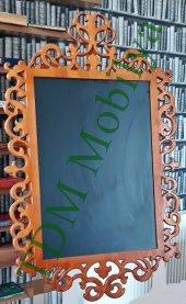 Ahşap Ayna Çerçevesi Cnc İşlemeli Ahşap Çerçeveler Tdm Ayna 01001