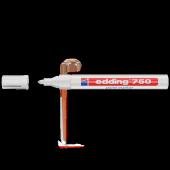 Edding Markör Boya 2 4 Mm Yuvarlak Uçlu Beyaz 750