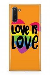 Samsung Galaxy Note 10 Kılıf Silikon Arka Kapak Koruyucu Love İs