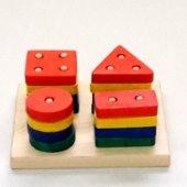 Renkli Kare Bultak Eğitici Ahşap Oyuncak