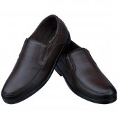 Kahverengi Baskılı Deri Ortopedik Diyabetik Günlük Erkek Ayakkabı
