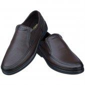 Kahverengi Burnu Dikişli Ortopedik Diyabetik Erkek Ayakkabı