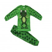 Kurbağalı Erkek Çocuk Mevsimlik Pijama Takımı