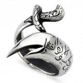 özel Tasarım Zülfikar Kılınç Gümüş Erkek Yüzük...