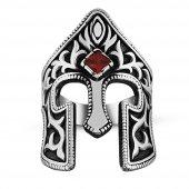 özel Tasarım Miğfer Gümüş Erkek Yüzük