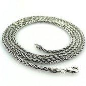 70 Cm Tilki Kuyruğu 3 Mm Gümüş Erkek Zinciri...