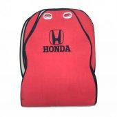 Honda Nakışlı Koltuk Koruyucu Oto Minder Kırmızı