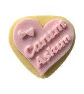 Canım Aşkım Yazılı Kalp Şeklinde Silikon Pasta Ve Seker Hamuru Kalibi 6,5x6,5x1 Cm