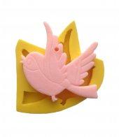 Uçan Kuş Şeklinde Silikon Pasta ve Seker Hamuru Kalibi 6x6x1 cm