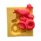 Martı Şeklinde Silikon Pasta ve Seker Hamuru Kalibi 6,5x6x1 cm