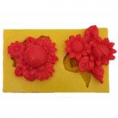 çiçek Desenli Silikon Pasta Ve Seker Hamuru Kalibi