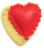 Kalp Şekilli Silikon Pasta ve Seker Hamuru Kalibi 8,5x8x2 cm