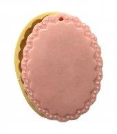 Oval Boş Çerçeve Şeklinde Silikon Pasta ve Seker Hamuru Kalibi 11x8x1 cm