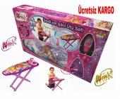 Winx Club Çocuk Oyuncak Ütü Pilli Işıklı Masası Seti Ücretsiz Kargo