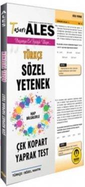Tasarı Yayınları Ales Türkçe Sözel Yetenek Çek Kopart Yaprak Test
