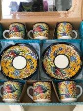 6 Lı Kahve Fincan Takımı Kütahya Çinisi