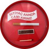 İhtiyaç Anında Camı Kırınız Acil Sigara Ünitesi