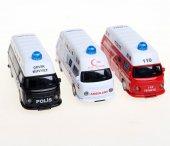 Birlik Oyuncak 1 40 Sesli Işıklı Çek Bırak Polis Ambulans İtfaiye Kurtarıcı Birliği Set