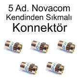 5 Ad. Novacom Kendinden Sıkmalı F Konnektör A++