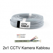 Kamera Güvenlik Kablosu 2x1 100 Mt.