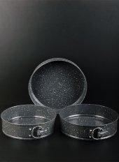 Bayev Kelepçeli Granit 3 Lü Kek Kalıbı Siyah 200603