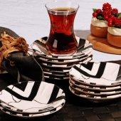 Black Çay Tabağı (12) (Adet)