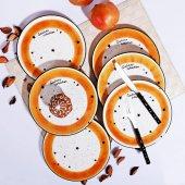 Galaxy Org.pasta Tabağı (Hardal) 6 Adet