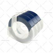 şerit Etiket Plastik Kabartma Motex E 101 (9mm X 3 Metre) 3 Adet (Mavi)