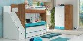 Uğur Genç Odası Smart Mavi Compact Ranza Dolap