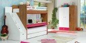 Uğur Genç Odası Smart Fuşya Takım Ranza Dolap...