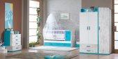 Uğurlu Bebek Odası Tiffany Mavi Takım