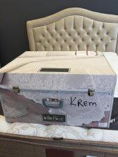 Brillant Yatak Örtüsü Çeyizlik Sandık Kutulu Krem-4