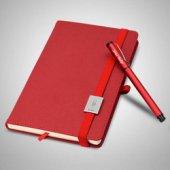 Kırmızı Defter Ve Kalem Seti Üstüne İyilik Sağlık