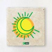 Taş Bardak Altlığı Hilal Ve Güneş