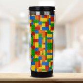 Kişiye Özel Lego Tasarımlı Termos Bardak