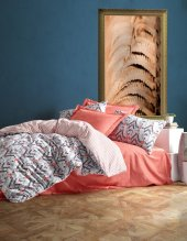 Cotton Box Minimal Çift Kişilik Nevresim Takımı Tile Tarçın