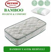 90x190 Heyner Bamboo Lüx Ortopedik Yaylı Yatak (Yastık Hediyeli)