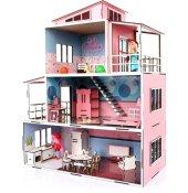 şok Fiyat Oyuncak Ahşap Mobilyalı Çocuk Oyun Evi Seti Kargo Ücretsiz