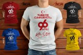 TYCB002 - Baskılı T-Shirt Cumhuriyet Bayramı Tişört Dizayn 29 Ekim Tshirt Bastırmak Yetişkin İçin Özel Tasarım Tişört