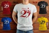 TYCB005 - Baskılı T-Shirt Cumhuriyet Bayramı Tişört Dizayn 29 Ekim Tshirt Bastırmak Yetişkin İçin Özel Tasarım Tişört