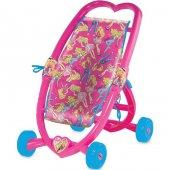 Barbie Kalpli Puset Kız Çocuk Bebek Arabası