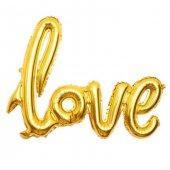 Folyo Balon 20 İnc Love Altın 50x40 Cm 1 Adet